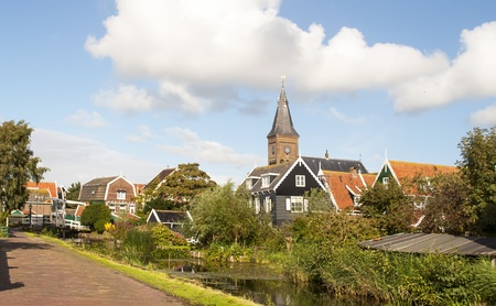 View of a typical Dutch village photo