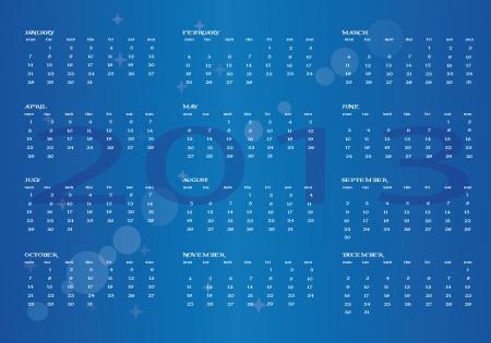 2013 new calendar in english Stock Vector - 14677294