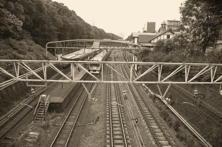 Train waiting at the train station