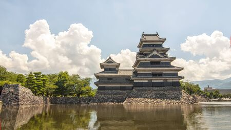 View of Matsumoto Castle in Japan.Matsumoto Castle ,also known as the Crow