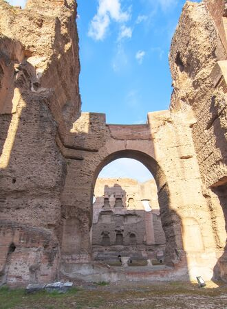 Baths of Caracalla in Rome.  photo
