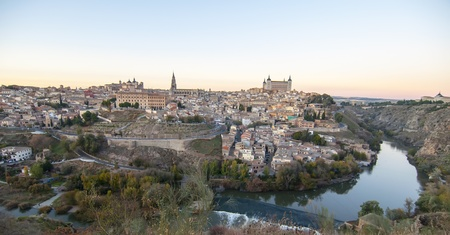 Panoramic view of the imperial city of Toledo photo