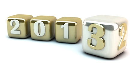 New year 2013 in cubes Stock Photo