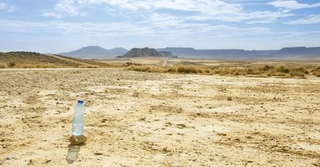 biosphere: The Bardenas Reales  biosphere reserve, desert landscape in Navarre