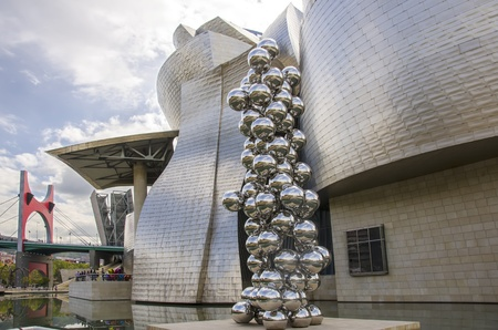 BILBAO, SPAIN - OCTOBER 13: The Guggenheim Museum in Bilbao on october 13,2012 in Bilbao,Spain. The Guggenheim is a museum of modern and contemporary art designed by Canadian-American architect Frank Gehry.