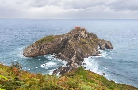 View of San Juan de Gaztelugatxe, Basque Coast in Spain photo