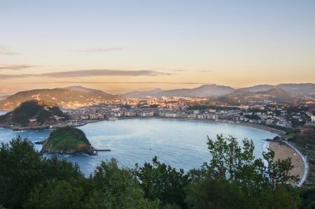 basque country: Overview of the Bay of San Sebastian, Spain