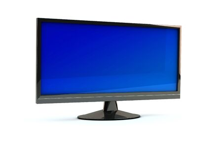 lcd  monitor tv on white background photo