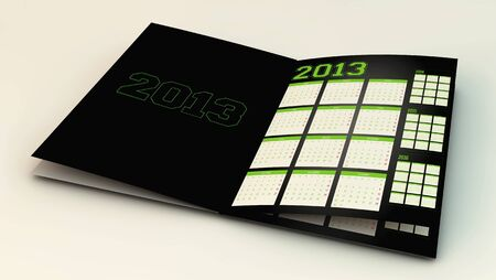 Calendar new year 2013 in 3d photo