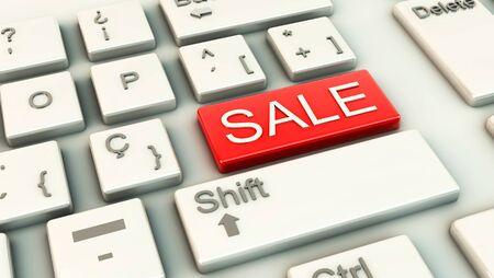 Computer keys with the word Sale in a red highlighting key Stock Photo - 16721773