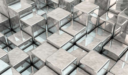 Abstract background with metallic cubes Stock Photo - 17162886