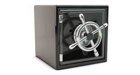Locked safe on white background photo