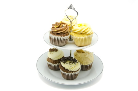 cakestand: Cupcake stand  on white background
