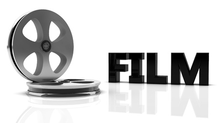3d film  with reel roll   photo