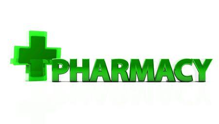 health   icon with pharmacy on white background photo