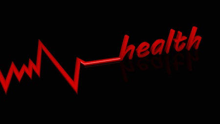 Abstract background with electro Heart Health Stock Photo - 18872937
