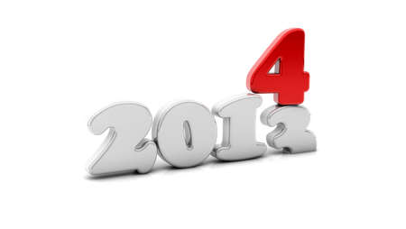 3d 2014 in crushing the year 2013 Stock Photo - 19082175