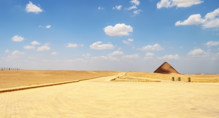 Red pyramid at Dahshur in  Cairo, Egypt photo