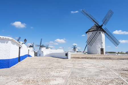 Windmills in Campo de Criptana,Ciudad Real,spain photo