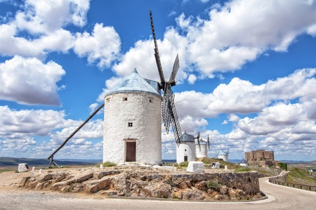Windmills in Consuegra,Toledo,spain photo