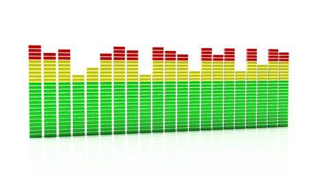 Illustration of digital equalizer on white background Stock Illustration - 19553405