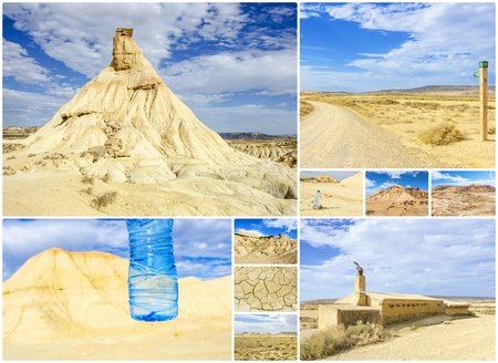 The Bardenas Reales  biosphere reserve, desert landscape in Navarre Stock Photo - 19860557