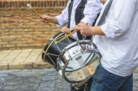 Men Playing the traditional drum Stock Photo - 20322559