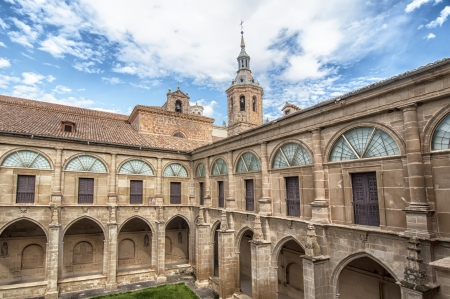 stone of destiny: Courtyard of the monastery of San Millan de Yuso,La Rioja