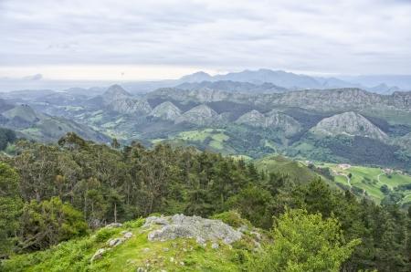 picos: Picos de Europa seen from de viewpoint of Fito, Asturias, Spain.