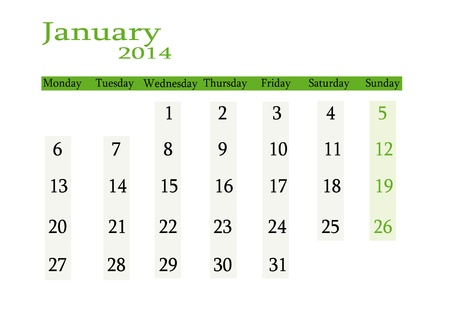 event planning: January 2014 in English