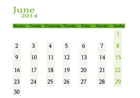 event planning: June 2014 in English Illustration