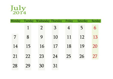 event planning: July 2014 in English