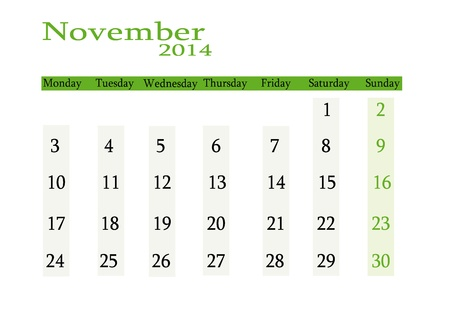 event planning: November 2014 in English