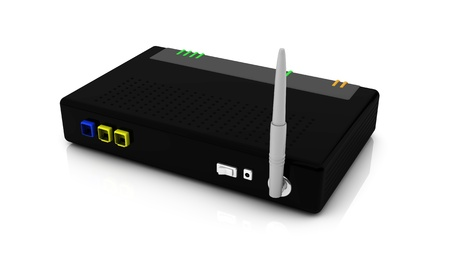 Wireless router for internet connection  photo