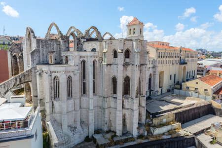carmo: View of Carmo church in Lisbon Stock Photo