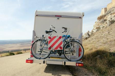 Motorhome bikes in Soria, Spain