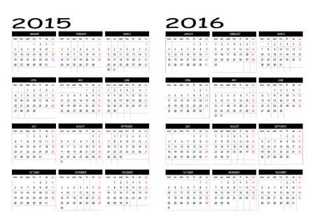 intention: 2015 and 2016 calendar