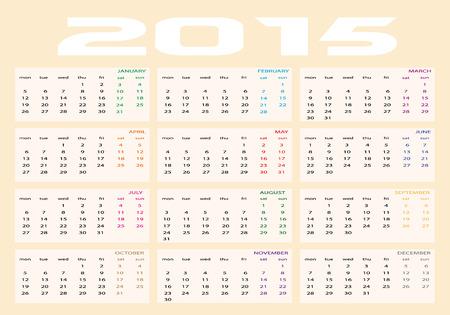 2105 calendar Stock Vector - 28871534