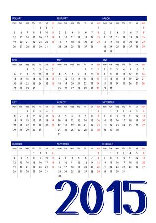 2105 calendar Stock Vector - 28871532