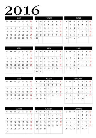 intentie: Kalender 2016