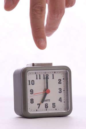 Désactiver l'alarme sur le réveil par le doigt