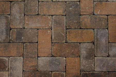 Red brick paving stones texture background photo Imagens - 38916595