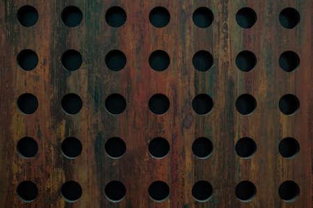 oxidated: textura de metal viejo con agujeros redondos textura