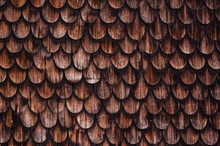 tiling: old rustic wood tiling roof texture background Stock Photo