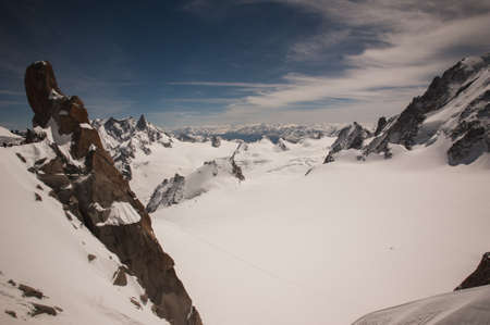 blanc: Panoramic view from Mont Blanc , France