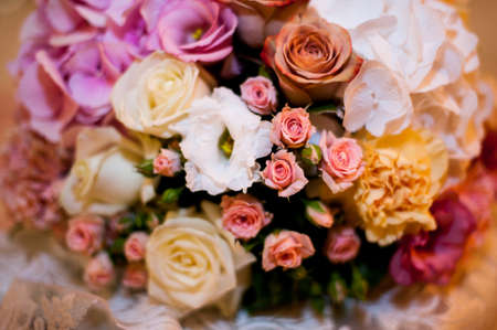 ronantic: Beautiful bouquet of bright flowers close up Stock Photo