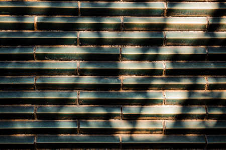 the sun and shade: dark green blue Tile Texture Background horizontal with sun shade