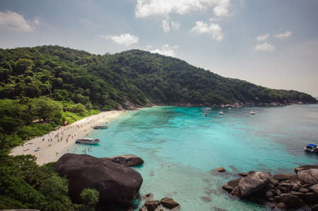 similan islands: Tropical beach Similan Islands Andaman Sea Thailand Stock Photo