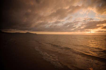 impressive: Impressive sunset on calm sea in Thailand phuket Stock Photo