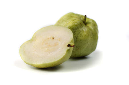 dietetical: Guava tropical fruit isolated on white background